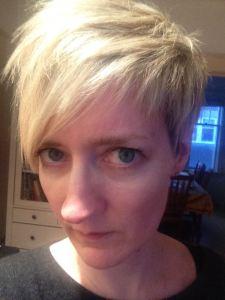 head shot, short hair